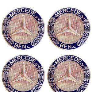 MERCEDES BENZ 75MM DARK BLUE WHEEL CUP