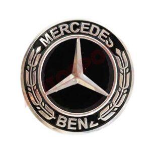 MERCEDES BENZ 75MM AMG BLACK WHEEL CUP 1PC