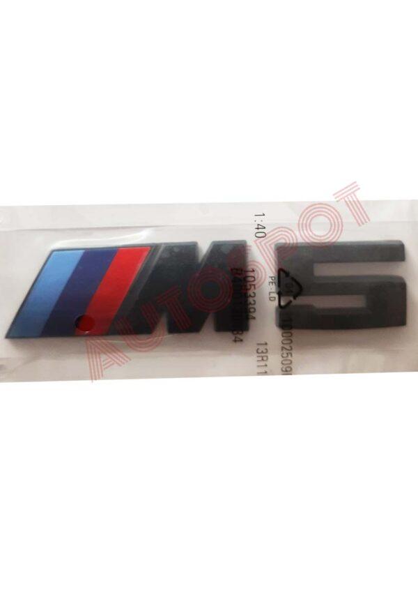 BMW REAR M5 BLACK EMBLEM